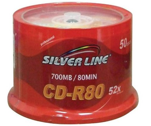 דיסקים לצריבה סילבר ליין Silver Line CD-R X52 700MB 80m 50pc