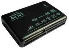 קורא כרטיסים חכמים סילבר ליין שחור Silver Line EL-650 USB2.0 All in One Card Reader