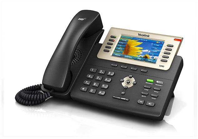 טלפון חוטי איי פי ייליניק Yealink SIP T29G IP Phone 4.3'' 480X272