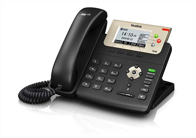 טלפון חוטי איי פי ייליניק Yealink SIP T23G IP Phone 132X64