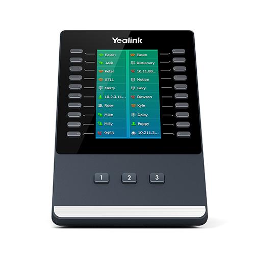 יחידת הרחבת מקשים עם צג LCD עתיר ביצועים ייליניק Yealink  EXP50 LCD Expansion Module