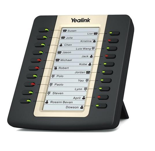יחידת הרחבת מקשים עם צג LCD עתיר ביצועים ייליניק Yealink  EXP20 LCD Expansion Module
