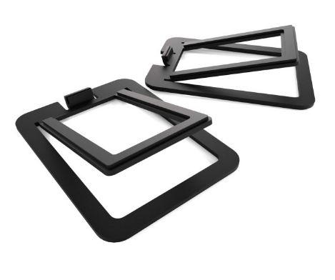 תוספת מעמד לרמקולים Kanto S2 Desktop Speaker Stands for Small Speakers Black