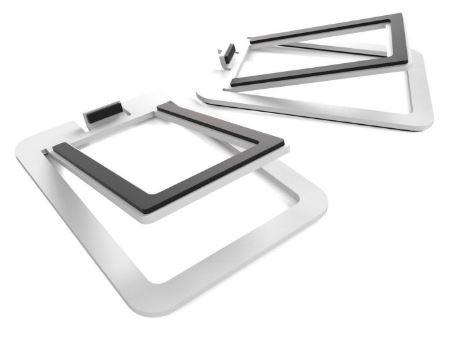 תוספת מעמד לרמקולים Kanto S2 Desktop Speaker Stands for Small Speakers White