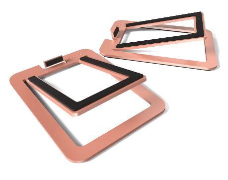 תוספת מעמד לרמקולים Kanto S2 Desktop Speaker Stands for Small Speakers Copper