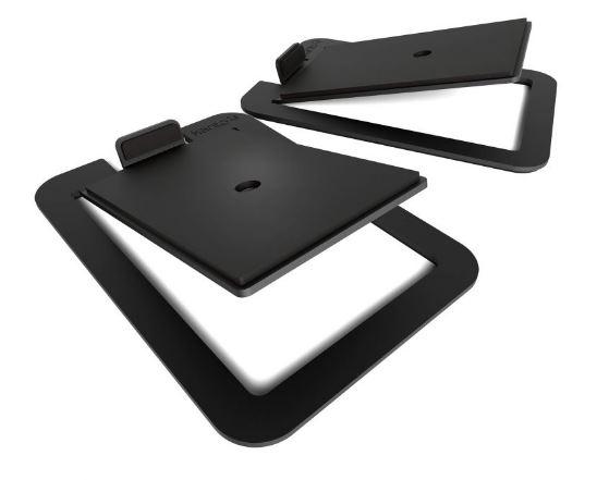 תוספת מעמד לרמקולים Kanto S4 Desktop Speaker Stands for Midsize Speakers Black