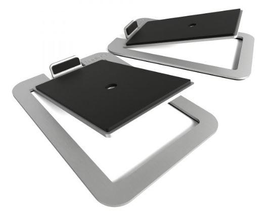 תוספת מעמד לרמקולים Kanto S4 Desktop Speaker Stands for Midsize Speakers Aluminum