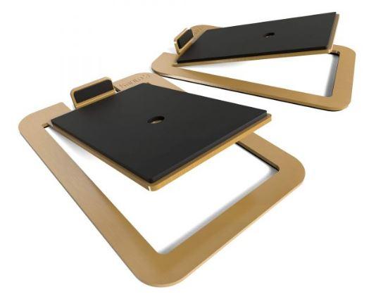 תוספת מעמד לרמקולים Kanto S4 Desktop Speaker Stands for Midsize Speakers Brass