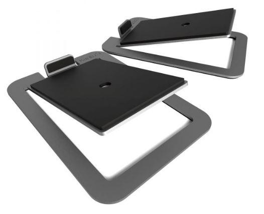 תוספת מעמד לרמקולים Kanto S4 Desktop Speaker Stands for Midsize Speakers Stainless Steel