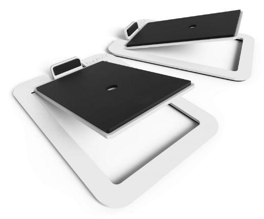 תוספת מעמד לרמקולים Kanto S4 Desktop Speaker Stands for Midsize Speakers White