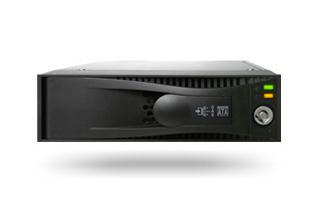מגירה לדיסק קשיח אלומיניום כולל מנעול ומאוורר Icy Dock Tray-less 3.5'' SAS/SATA Hard Drive Hot-Swap Mobile Rack for 5.25'' Device Bay