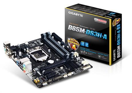 לוח אם גיגהבייט עודפי מלאי Gigabyte GA-B85M-DS3H-A LGA 1150 Intel B85 Chipset DDR3