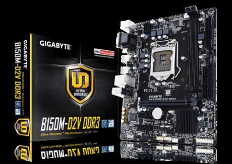 לוח אם גיגהבייט עודפי מלאי Gigabyte GA-B150M-D2V LGA 1151 Intel B150 Chipset DDR3