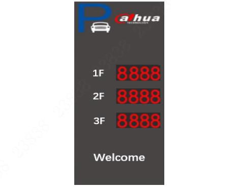 שילוט חיצוני להצגת מספר מקומות החנייה הפנויים-שלוש שורות Duahu DHI-IPMPGI-231AA 220V