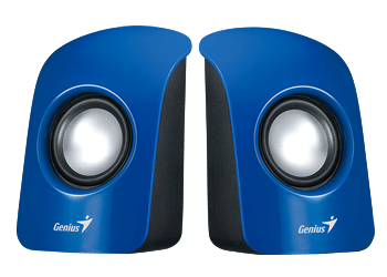 רמקולים למחשב כחול Genius U115 Desktop Speakers 3Watts 3.5mm Blue