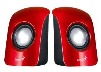 רמקולים למחשב אדום Genius U115 Desktop Speakers 3Watts 3.5mm Red