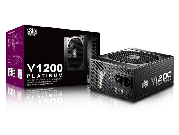 ספק כוח מודולרי למחשב COOLER MASTER V1200W Platinum 135mm Silent HDB 1200Watt