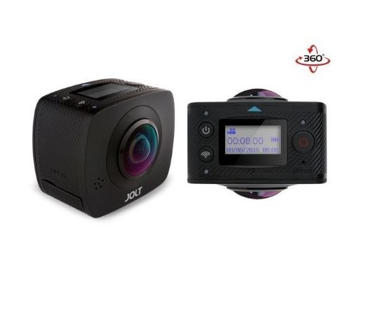 מצלמת אקסטרים GIGABYTE JOLT Duo 360 Full HD 4Mega Pixel Spherical VR WiFi Action Camera with Waterproof Case Kit