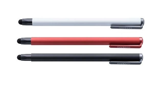 עט ללוח כתיבה גרפי וואקום Wacom CS-190R Bamboo Stylus solo4 red