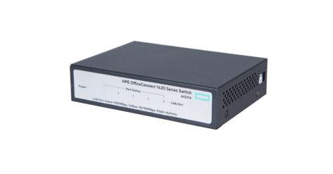 מתג לא מנוהל HP JH327A 1420-5G Switch 10/100/1000Mbps