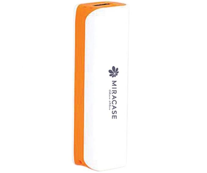 סוללת טעינה וגיבוי לבן וכחול Miracse 2600mAh MPB2600PE Power Orange and White