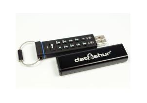 זיכרון נייד פלאש דיסק און קיי מוצפן קשיח iStorage IS-FL-DA-256-8 Disk On Key DataShur 256bit Encrypted 8GB USB 2.0