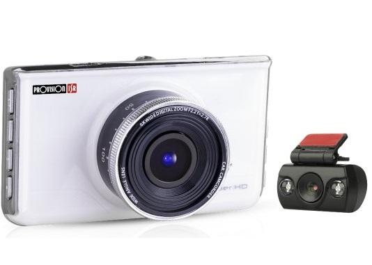 מצלמת דרך לרכב ערכת 2 מצלמות וידאו דו כיוונית לרכב  ''3 Proviosion PR-1500CDV Full HD