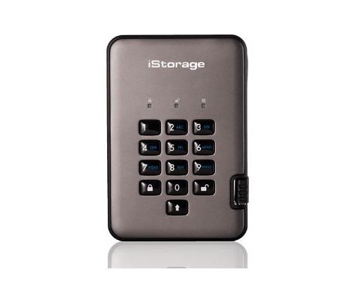 דיסק פלאש חיצוני מוצפן iStorage IS-DAP2-256-SSD-256-C-G External 2.5'' Pro2 Disk 256bit Encrypted 256GB SSD USB 3.1