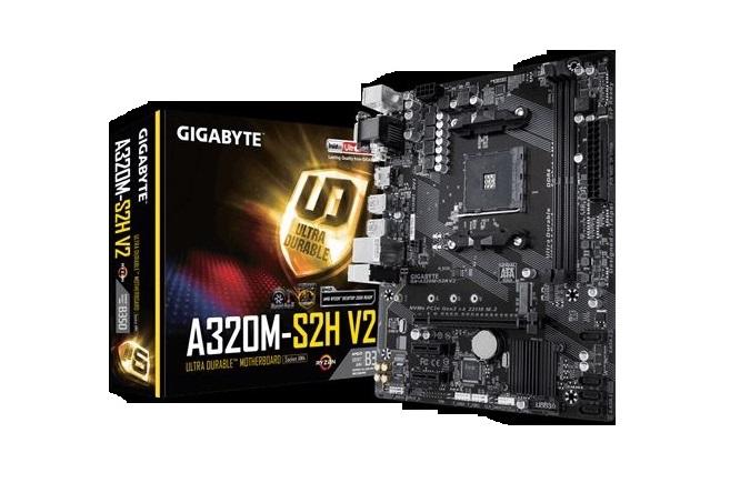 לוח אם ג'יגהבייט Gigabyte GA-A320M-S2H V2 DDR4 Socket RYZEN AM4 Ryzen AMD B350