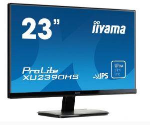 מסך מוניטור מקצועי IIYAMA XU2390HS-B1 Monitor 23'' Full HD ProLite IPS Panel 5ms VGA DVI HDMI Speakers 5ms 1:1000