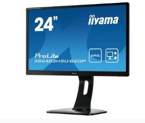 מסך מוניטור מקצועי IIYAMA XB2483HSU-B2DP Monitor 23.8'' Full HD ProLite AMVA Panel VGA DVI DP Speakers 4ms 1:3000