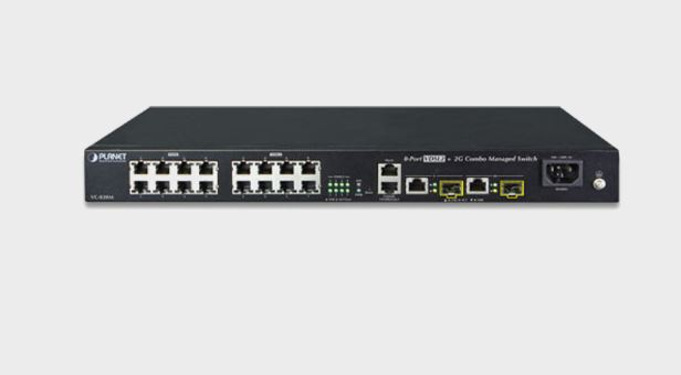 מודם מתאם רשת על גבי קוי טלפון Planet VC-820M 8-Port VDSL2 + 2-Port Gigabit TP/SFP Combo Layer2 Managed Switch