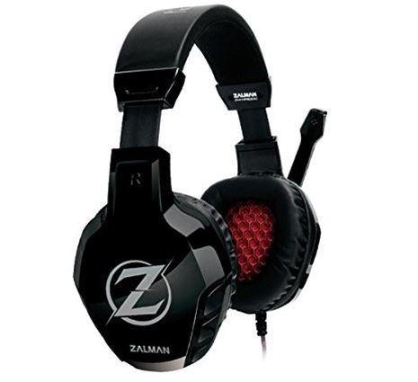 אוזניות כולל מיקרופון לגיימרים זלמן שחור  ZALMAN GAMING HEADSET ZM-HPS300 + MIC