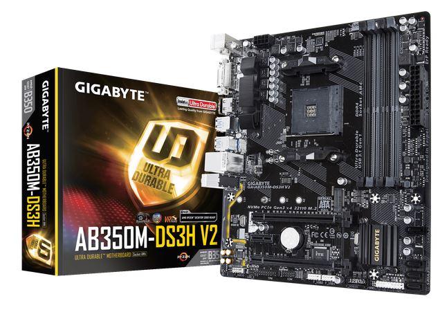 לוח אם ג'יגהבייט Gigabyte GA-AB350M-DS3H V2 Socket AM4 Ryzen B350