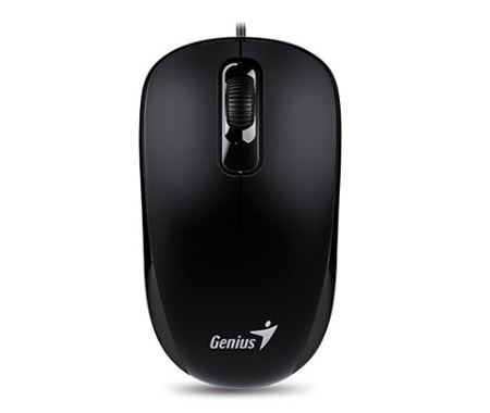 עכבר חוטי ג'ניוס שחור Genius DX-110 USB Optical Mouse Black