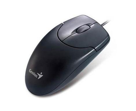 עכבר חוטי ג'ניוס שחור Genius DX-120 USB Optical Mouse Black