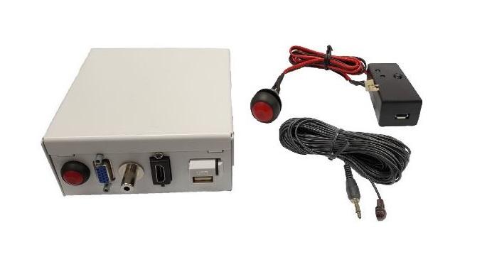 קיט לומד IR, כולל עינית וכפתור הדלקה/כיבוי למקרן להתקנה ב-OEM IREX50-KIT KEYS-BOX3/4