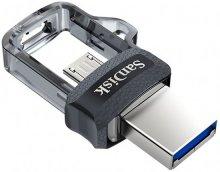זכרון נייד סאן דיסק פלאש SanDisk ULTRA DUAL DRIVE M3.0 128GB USB Flash Drive
