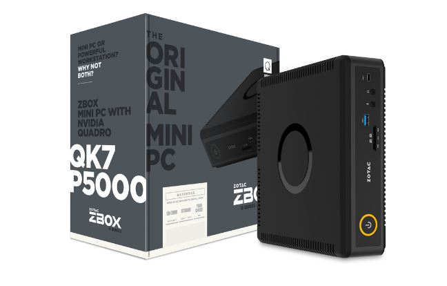 מחשב מיני לגיימרים Zotac QK7P5000 Mini PC Intel Core i7-7700T 3.8GHZ 16GB RAM DDR4 500GB SSD M2 2TB HDD NVIDIA Quadro P5000 16GB GDDR5 DOS
