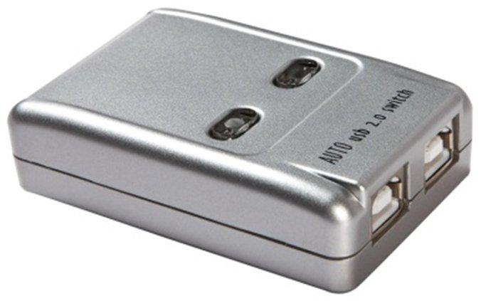 קופסת מיתוג USB2.0 אוטומטית, לחיבור מוצר USB אחד ל-2 מחשבים (מתג שיתוף USB)