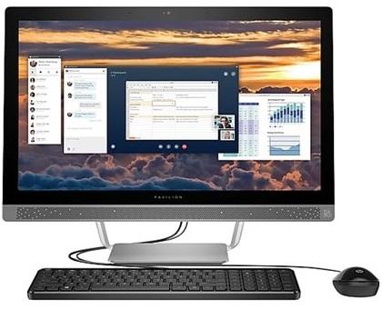 מערכת מחשב כולל מסך אול אין וואן HP All In One 24-B016 24'' Full HD Intel Dual Core i3-6100T 3.20GHz 8GB RAM 1TB HDD Win10 Silver