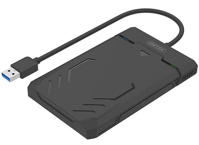מארז חיצוני לדיסק קשיח 2.5 אינצ' כולל תאורה Unitek Y-3036 USB3.0 to SATA3 6Gbps 2.5'' HDD Enclosure