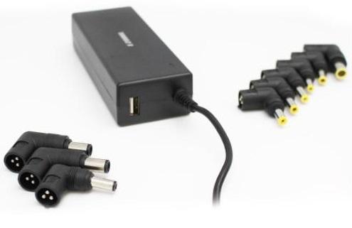 מטען אוניברסאלי למחשב נייד כולל 10 מתאמים ויציאת EZcool AD-800 Super 90W Power Adapter USB 2.1A Port USB