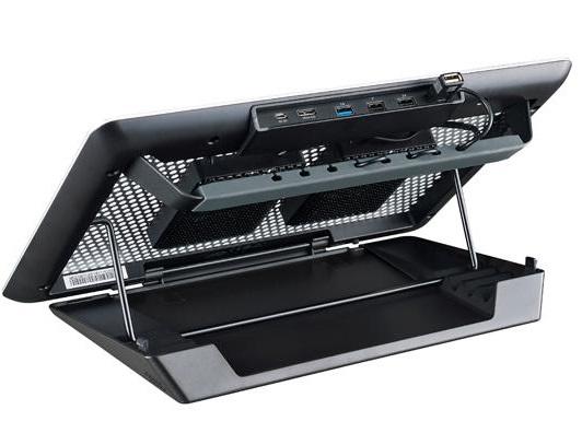 מגש קירור למחשב נייד כולל רכזת האב 4 פורטים כיוון גובה משתנה קולר מאסטר Cooler Master Notepal Master Maker Fan 2x 80mm Notebook Cooler Up To 17'' Silver