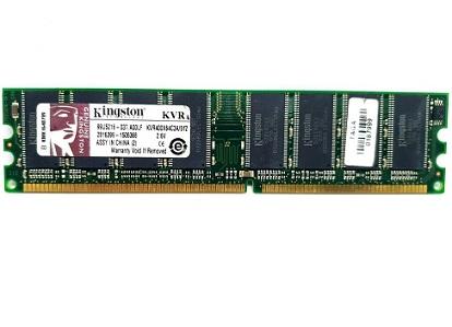 זכרון למחשב נייח קינגסטון Kingston KVR400X64C3A/512 512MB 400MHz DDR Non-ECC CL3 3-3-3 DIMM