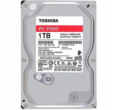 דיסק קשיח טושיבה Toshiba HDWD110UZSVA P300 1TB 7200Rpm 64MB Cache SATA 6.0Gb/s 3.5Inch