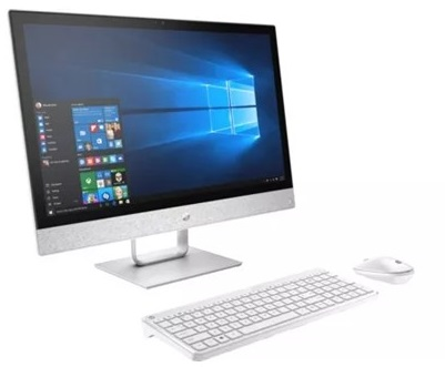 מערכת מחשב כולל מסך מגע אול אין וואן HP All In One 24-R025M 24'' Full HD AMD Quad Core A12-9730P 2.8GHz 12GB RAM 1TB HDD Win10 Silver