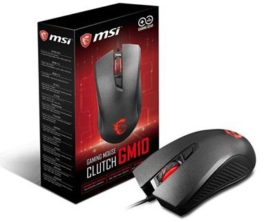 עכבר לגיימרים אופטי חוטי כולל תאורת לד MSI Clutch GM10 Gaming Opticl Mouse