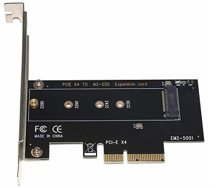 בקר הרחבה לדיסק SSD M2 ל Alloet SSU EM2-5001 PCIe to PCIe 3.0 x4 NVMe M.2 NGFF M Key SSD Riser Expansion Card Adapter PCI Express