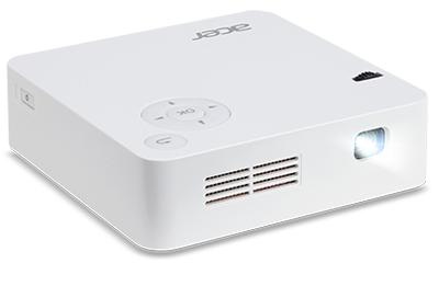מקרן כיס זעיר אייסר Acer C202i LED DLP Portable Projector 1600x1200 300 Ansi Lumens 1:5,000 HDMI